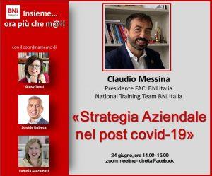Strategia aziendale nel post covid-19 – Referral Tasting – Business a tavola – Claudio Messina