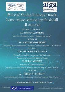 Referral Tasting per creare relazioni professionali di successo – Referral Tasting – Business a tavola – Claudio Messina