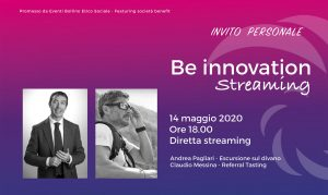Be Innovation streaming maggio 2020