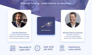 Webinar Referral Tasting – 15 luglio
